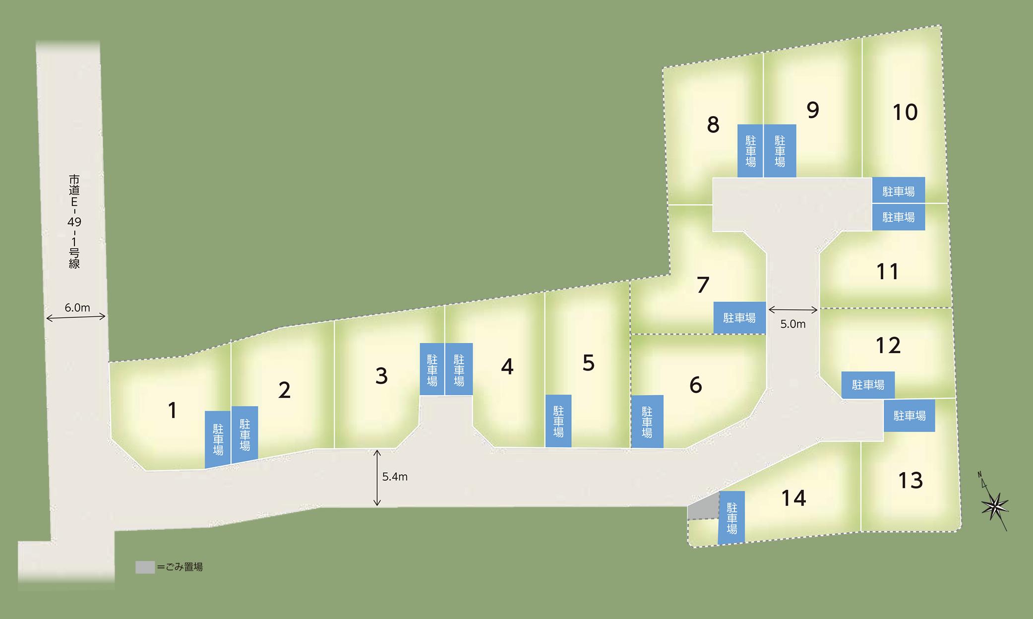 ブルームシティ戸室区画図